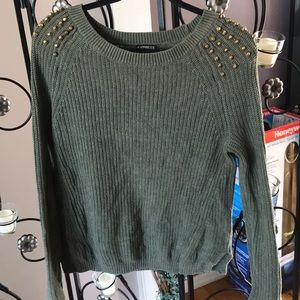 Olive green express sweater